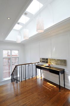 lights in skylight Interiors - traditional - staircase - toronto - Sherwood Custom Homes