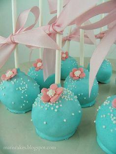 Cake Pops. Cupcakes Bailarina y Bizcochito Sorpresa para Topaz!