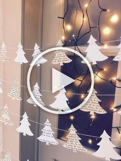 41 Breathtakingly Rustic Homemade Christmas Decorations : Page 10 of 32 : Creative Vision Design Christmas Tree Garland, Diy Christmas Ornaments, Christmas Decorations To Make, Holiday Decor, Diy Christmas Videos, Diy Christmas Gifts For Family, Christmas Ideas, Christmas Room, Homemade Christmas