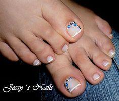 30 Special Summer Nail Designs rnrnSource by SelbermachennnnN Dot Nail Designs, Pedicure Designs, Creative Nail Designs, Creative Nails, Cute Toe Nails, Toe Nail Art, Pretty Nails, Nail Art Hacks, Cute Pedicures