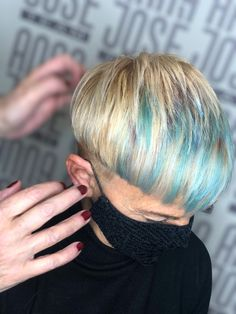 Hair cut and color