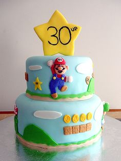 Mario! @Lauren Peterson: Aside from the fact that you will be having his baby, you should totally make this cake for Richard's 30th birthday!!! (Or maybe have someone else do it) LOL