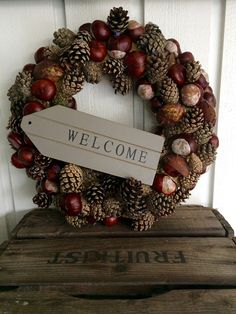 Best 12 5 x making a wreath yourself - Diy Diy Fall Wreath, Holiday Wreaths, Winter Wreaths, Spring Wreaths, Summer Wreath, Rustic Christmas, Christmas Crafts, Christmas Ribbon, Deco Nature