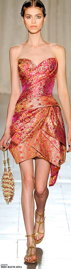 Marchesa Spring/Summer 2013 - SARI Inspired Dress -- Impressively Fashion Forward