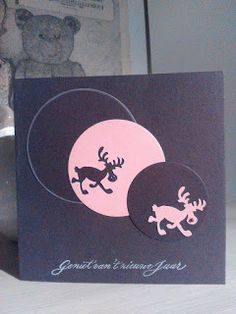 Annie's blog: Donkerbruine en roze rendiertjes.....
