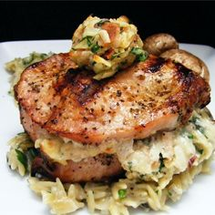 "Pork Chops Stuffed with Smoked Gouda and Bacon I ""Delicious! These ..."