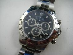 A VERY NICE ROLEX DAYTONA WITH BOX, PAPERS, FULL HALOGRAM AND TAGS DATES 2003 High End Watches, Rolex Daytona, Chronograph, Rolex Watches, Dates, Nice, Box, Stuff To Buy, Accessories