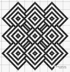 This Pin was discovered by Ste Afghan Crochet Patterns, Weaving Patterns, Crochet Chart, Mosaic Patterns, Crochet Motif, Knitting Patterns, Blackwork Embroidery, Embroidery Sampler, Cross Stitch Embroidery