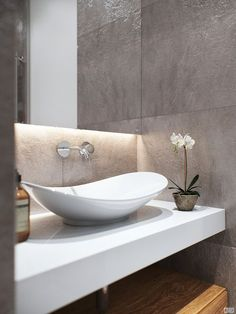 Concrete feel bathroom