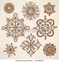 female mandala tattoo | Henna tattoo Stock Photos, Illustrations, and Vector Art
