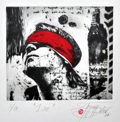 "Saatchi Art Artist Tezcan Bahar; Printmaking, """"I see"" - Limited Edition 3 of 30"" #art"