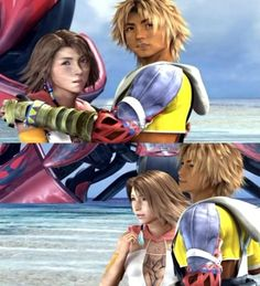 Tidus and Yuna...Final Fantasy X-2 If I ever have a daughter I'm naming her Yuna =^•^=