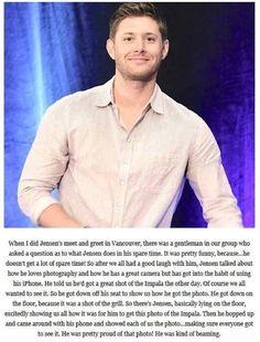 Jensen Ackles: The Cutest Man Alive Supernatural Convention, Supernatural Tv Show, Destiel, Johnlock, Jared Padalecki, Misha Collins, Winchester Boys, Super Natural, Jeffrey Dean Morgan