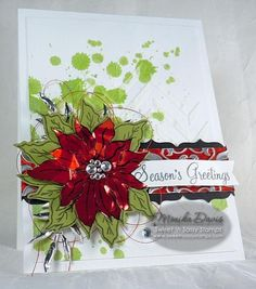 Sweet 'n Sassy Stamps used: Poinsettia Stamp and Die.