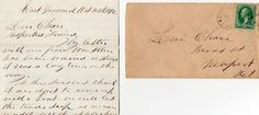 An Original 1872 Rhode Island Quaker Letter from Daniel Kenyon East Greenwich, to Levi Chase, Newport, R.I.  The letter is postmarked in East Greenwich on Oct 10th, 1872