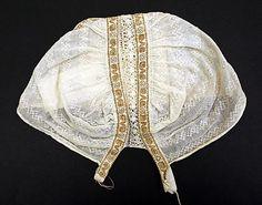 Cap.  Date: 19th century. Culture: Slovak. Medium: cotton.