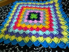 rainbow granny scrap eater blanket