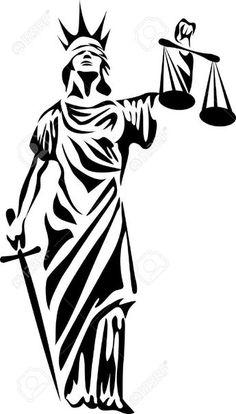 Illustration about Lady justice - stylized black and white illustration. Illustration of legal, themis, statue - 59163003 Stencil Patterns, Stencil Art, Stencil Designs, Stenciling, Justice Tattoo, Lady Justice, Bleach Art, 3d Laser, Tatoo Art