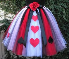 Queen of Hearts Custom Sewn Tutu