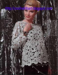 AMAZING IRISH CROCHET BLOUSE...DRESS &BERET | CrochetRibArt