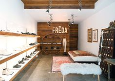 Leslie from Spotted SF here and today we're heading into my one of my favorite neighborhood shops, Freda Salvador. Who is Freda Salvador? It is an artisan line of super-stylin', super-edgy and ever wa