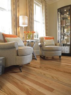 Red oak hardwood floors left is oil based polyurethane and for High traffic flooring ideas