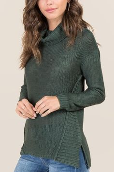 Cleo Cowl Neck Pullover Sweater