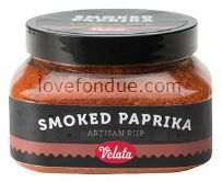 Velata Smoked Paprika Artisan Rub.  Give meats and grilled foods a whole new taste with Velata! Gluten free and 100% natural.  $10 at http://forksandfondue.weebly.com.