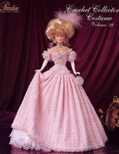 Barbie, Crochet Collector Costume Vol. 39 pattern  http://knits4kids.com/collection-en/library/album-view?aid=2172&l=en&series=822&code=en#foobox-1/0/96cgwn01.jpg?imgmax=800