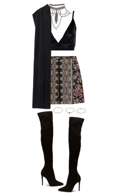 """""""Untitled #1194"""" by adc421 ❤ liked on Polyvore featuring Boohoo, Valentino and DKNY"""