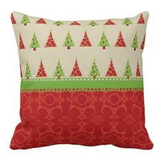 Beautiful Christmas Trees Throw Pillow #christmas #homedecor #christmasdecoration #pillow