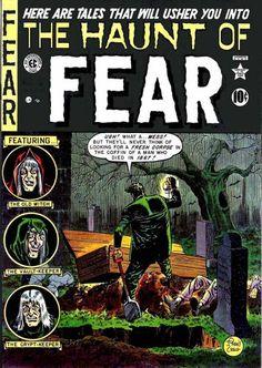 The Haunt of FEAR 5 golden age comic Vintage Comic Books, Vintage Comics, Comic Books Art, Comic Art, Book Art, Sci Fi Comics, Horror Comics, Horror Art, Creepy Comics