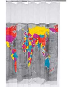Habitat Mappa Shower Curtain.#ArgosRoomInspiration