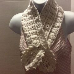 Crocheted pineapple Scarf SALE Crocheted by me. You just slip one of the pineapples through the whole you see on the right side or you can wear it open Accessories Scarves & Wraps