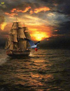 Foto: Para se perder não é preciso andar muito longe... basta navegar no mar interior até se afogar.