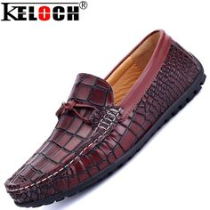 Cc Fashion Flats Shoes Men Formal Shoes Alligator Genuine Leather Loafers Men Flats Casual Oxford Shoes For Men Loafers Hombre alishoppbrasil