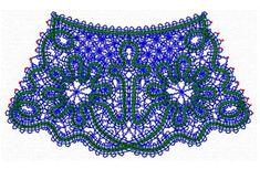 Advanced Embroidery Designs. FSL Battenberg Lace Hat. Machine embroiodery designs.