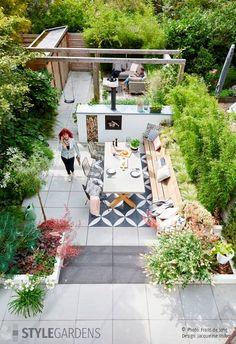 Back Garden Design, Backyard Garden Design, Rooftop Garden, Balcony Garden, Backyard Landscaping, Unique Gardens, Back Gardens, Outdoor Gardens, Minimalist Garden