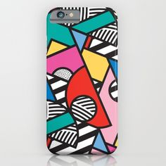 Buy Colorful Memphis Modern Geometric Shapes iPhone & iPod Case by Season of Victory. Worldwide shipping available at Society6.com. Just one of millions of high quality products available. https://society6.com/product/colorful-memphis-modern-geometric-shapes_iphone-case?curator=alexxxxx