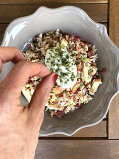 Grains with Apple, Bresaola and Skyr with Chives - Insalata di cereali con mela, bresaola e Skyr all'erba cipollina | Un Pinguino in Cucina
