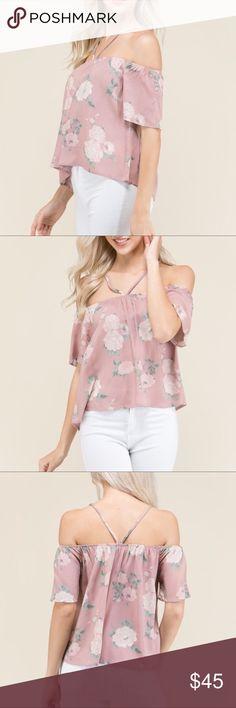 Off Shoulder Floral Top LA-  Off Shoulder Floral Top. New with tags. Make me an offer! Aluna Levi Tops Blouses