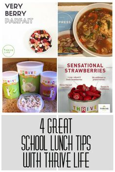 4 Great School Lunch Tips with Thrive Life