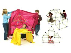Put your brigade in the construction business with Crazy Forts. With one kit, kids can make a tunnel, house, rocket, igloo, and castle — or use their imaginations to muster an original creation.    Available at barnesandnoble.com, $50.