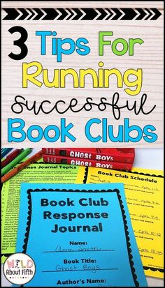 3 tips for running successful student-led book clubs Learn how to organize, set up, structure and run book clubs in your reading workshop ELA classroom. Book clubs get your students reading and writing with purpose, accountability and thoughtfulness. Second Grade Books, 4th Grade Books, 5th Grade Reading, Fourth Grade, Third Grade, Book Club Reads, Book Club Books, Book Clubs, Middle School Books