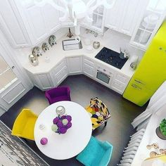 best small kitchen design ideas for your tiny space 26 Home Staging, Remodeling Costs, Home Remodeling, Kitchen Remodeling, Dining Area Design, Bohemian Kitchen, Tiny Spaces, Beautiful Kitchens, Home Renovation