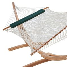 Deluxe Hammock with Pillow and Wooden Stand | DFOHome