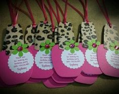 Spa Party Favor Tags Nail Polish Favor Tags by CreationsbyColett