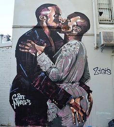 Regram from @scottie.marsh - In response to @lushsux's #KimKardashian mural in Melbourne comes this (finger) banger of #Kanye with the only person he loves as much as himself... #fingersinthatbootyassbitch