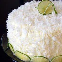 Torta de coco y queso crema