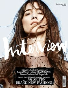 Charlotte Gainsbourg by Driu & Tiago for Interview Germany #magazine #cover #graphic #design #visual #impact #fashion #fame #celebrity #popculture #hairstyle